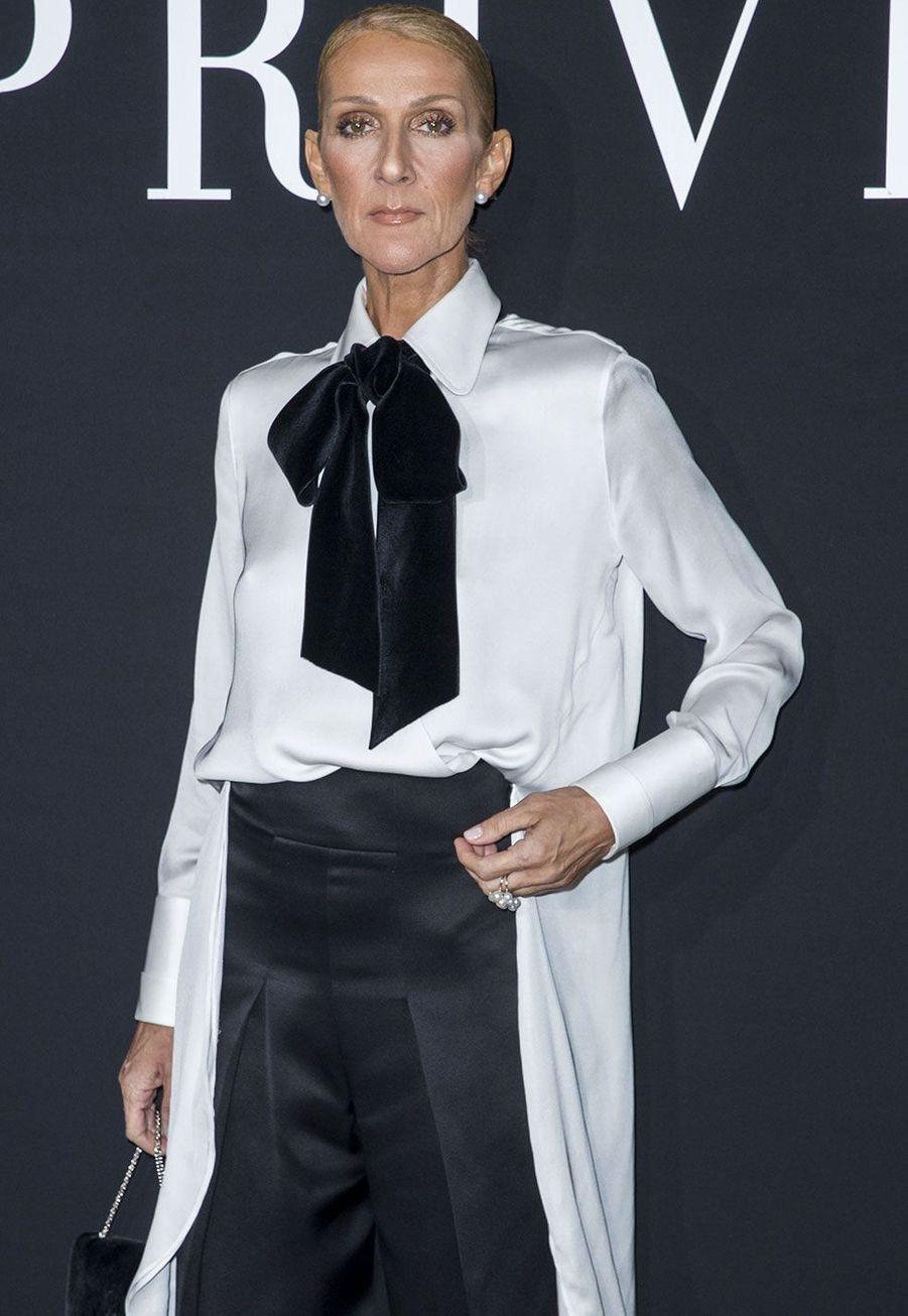 Céline Dion au défilé Armani mardi à Paris