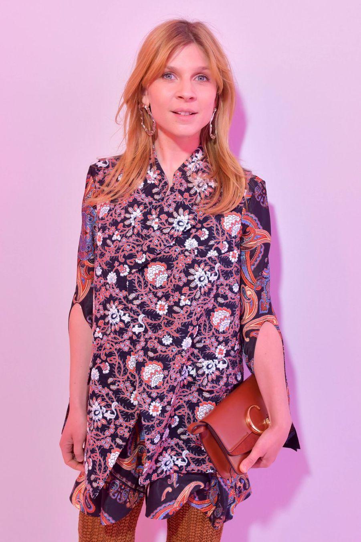 Clémence Poésy au défilé Chloé lors de la Fashion Week à Paris le 28 février 2019