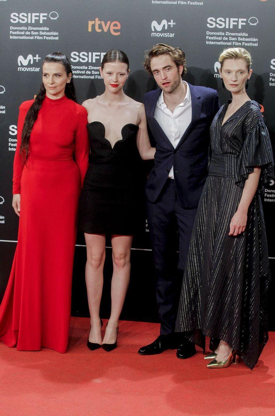 """Juliette Binoche, Mia Goth, Agata Buzek et Robert Pattinson présentent """"High Life"""", de Claire Denis, au festival du film de San Sebastian, jeudi 27 septembre"""