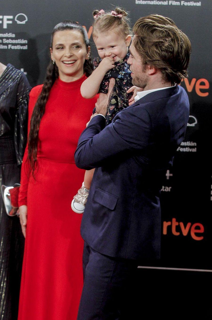 """Robert Pattinson et Juliette Binoche présentent """"High Life"""", de Claire Denis, au festival du film de San Sebastian, jeudi 27 septembre"""