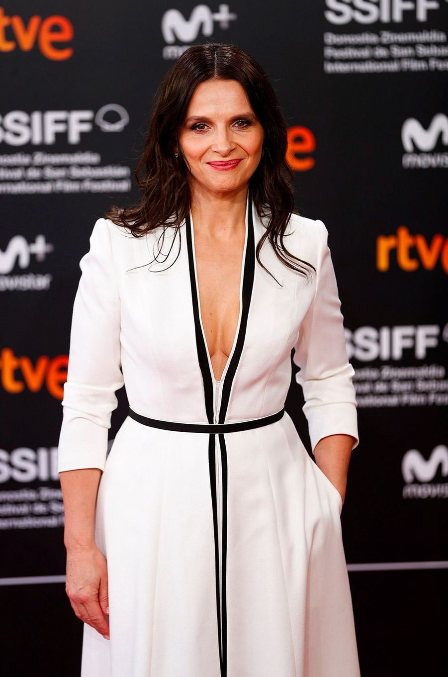 Juliette Binoche au festival du film international de San Sebastian, mercredi 26 septembre