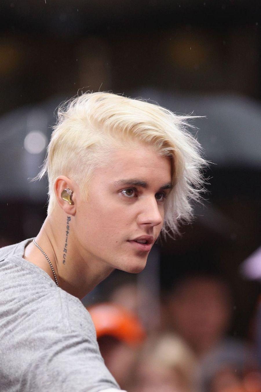 Justin Bieber lors d'un concert pour la NBC à New York en septembre 2015