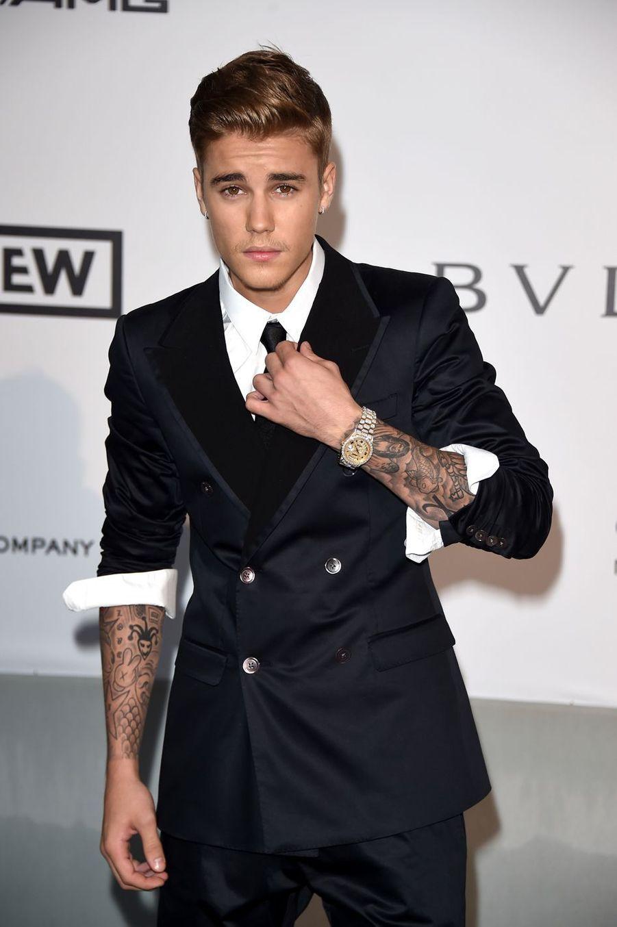 Justin Bieber au gala de l'amfAR à Antibes en mai 2014