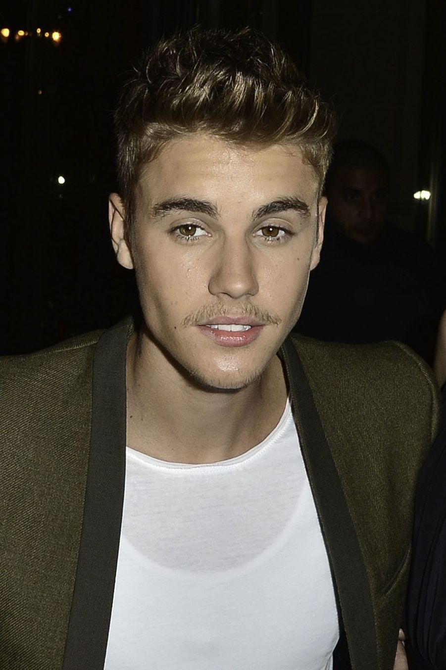 Justin Bieber lors de la Fashion Week de Paris en septembre 2014