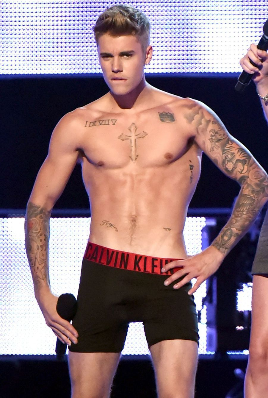 Justin Bieber lors des Fashion Rocks en septembre 2014 à New York