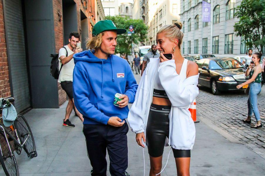 Justin Bieber et Hailey Baldwin en juillet 2018