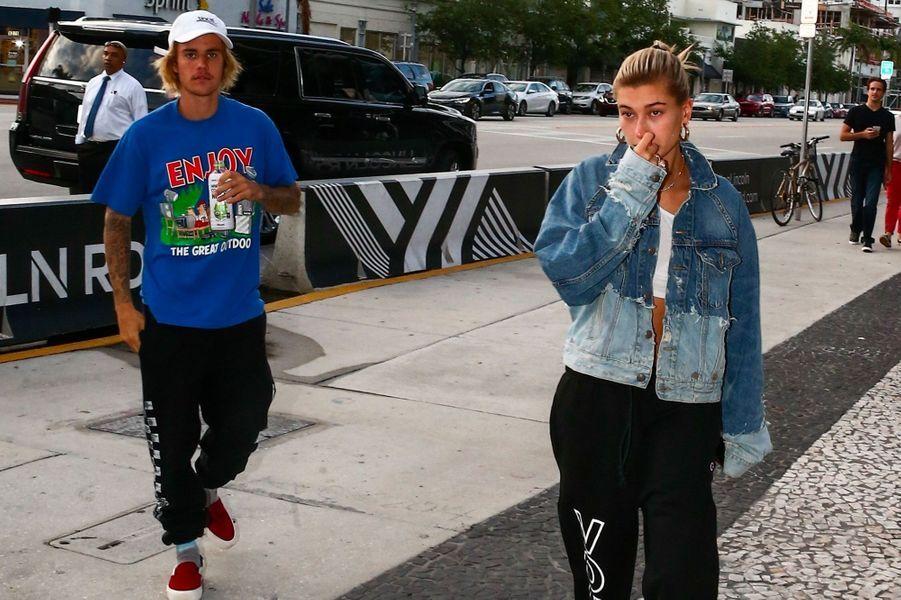 Justin Bieber et Hailey Baldwin en juin 2018