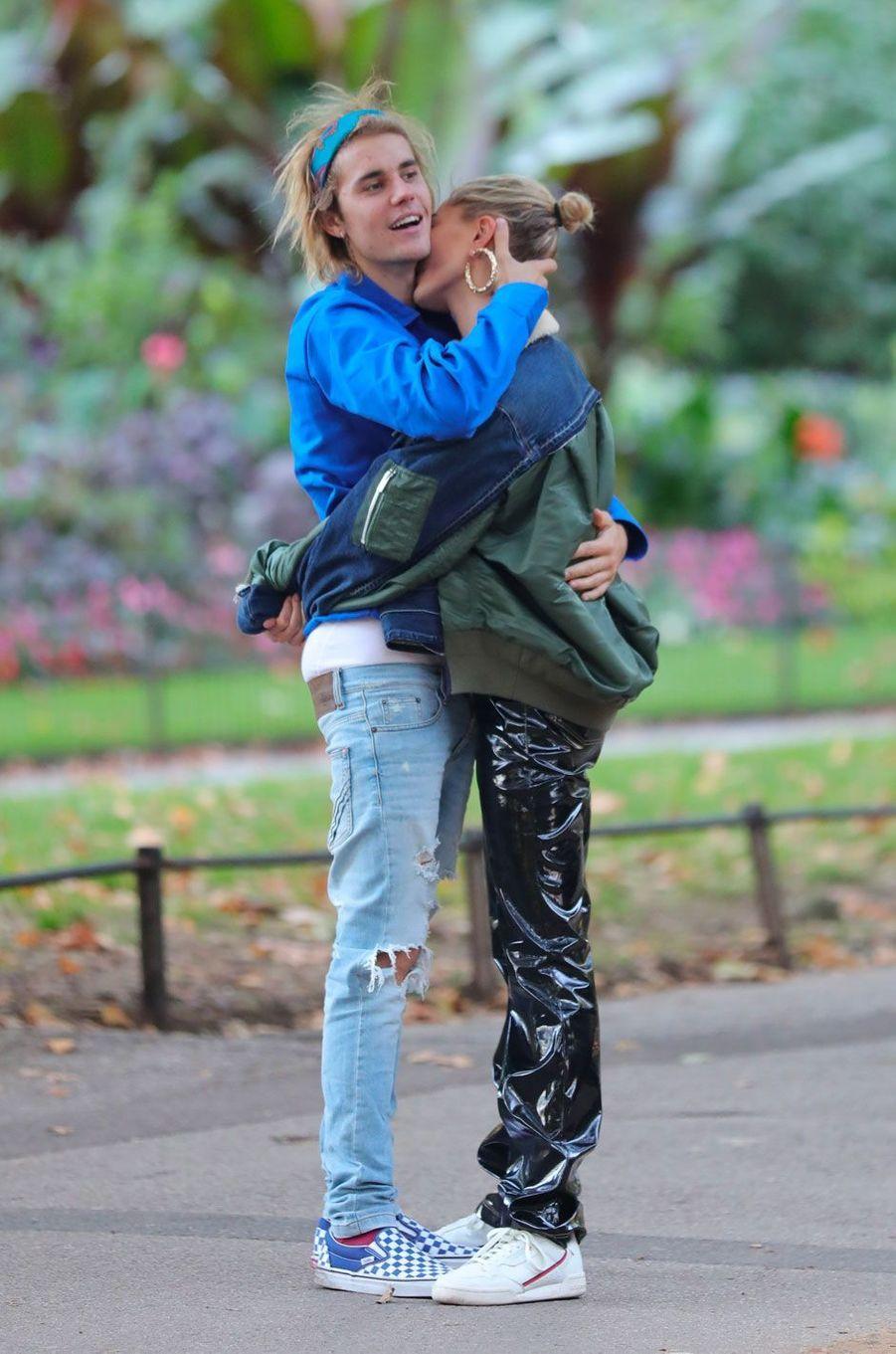 Justin Bieber et Hailey Baldwin à Londres le 17 septembre 2018