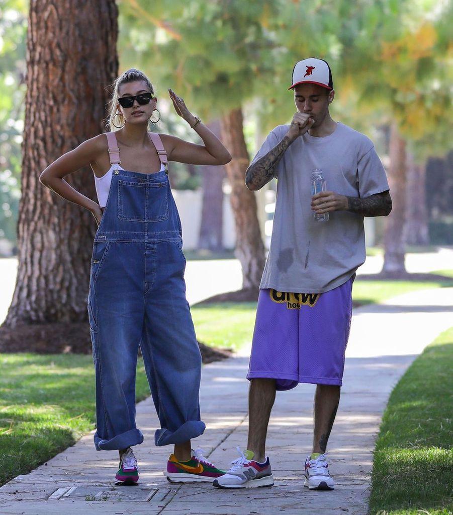 Hailey et Justin Bieber à Los Angeles le 4 août 2019