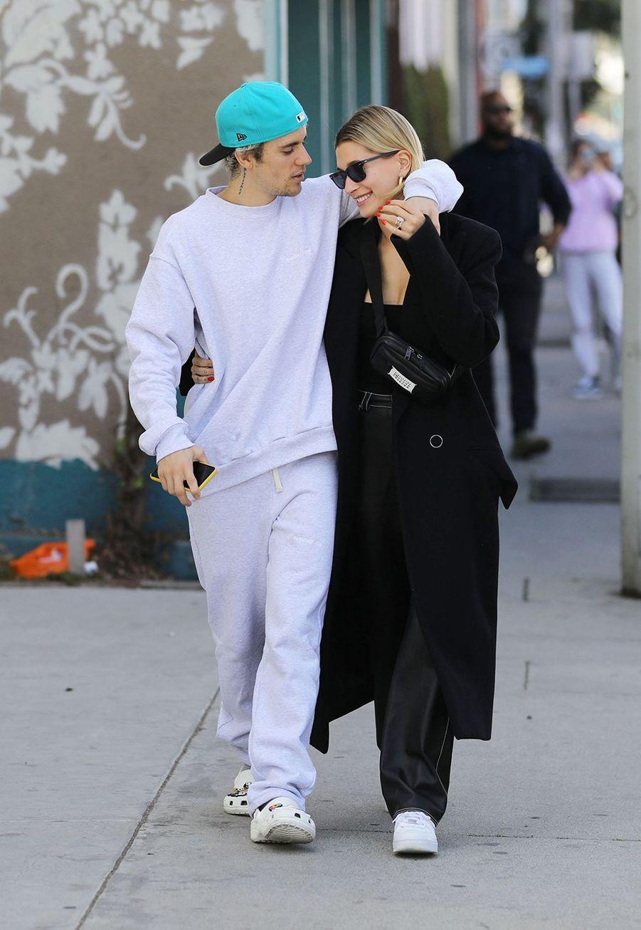 Hailey et Justin Bieber à Los Angeles le 4 mars 2020