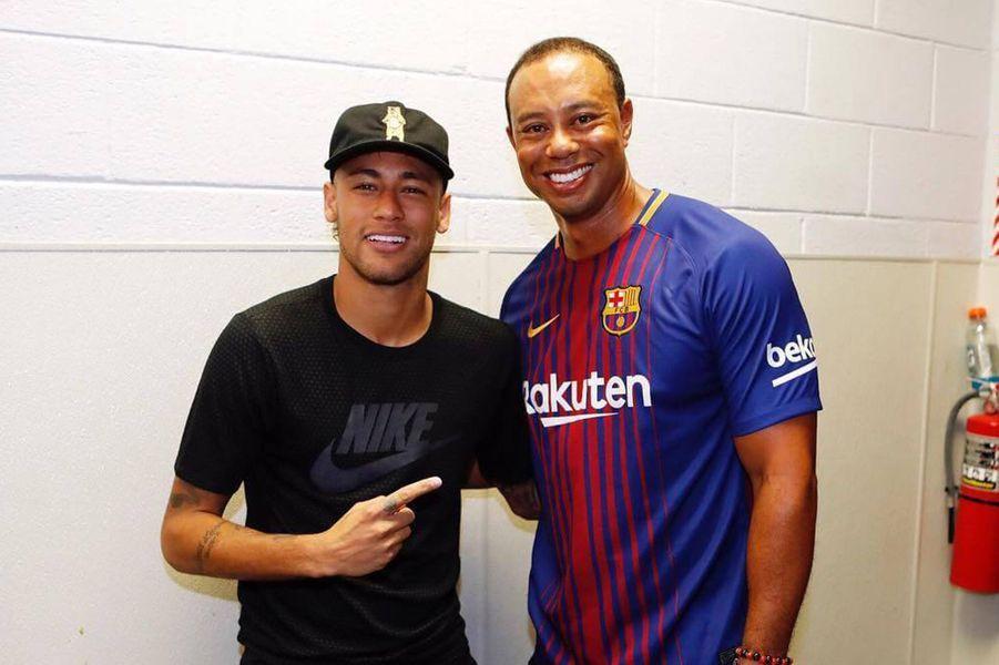 Neymar et Tiger Woods.