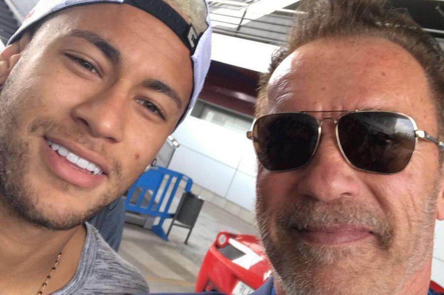 Neymar et Arnold Schwarzenegger.