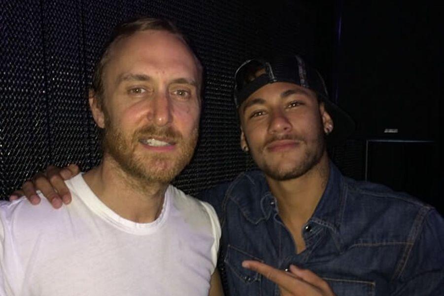 David Guetta et Neymar.