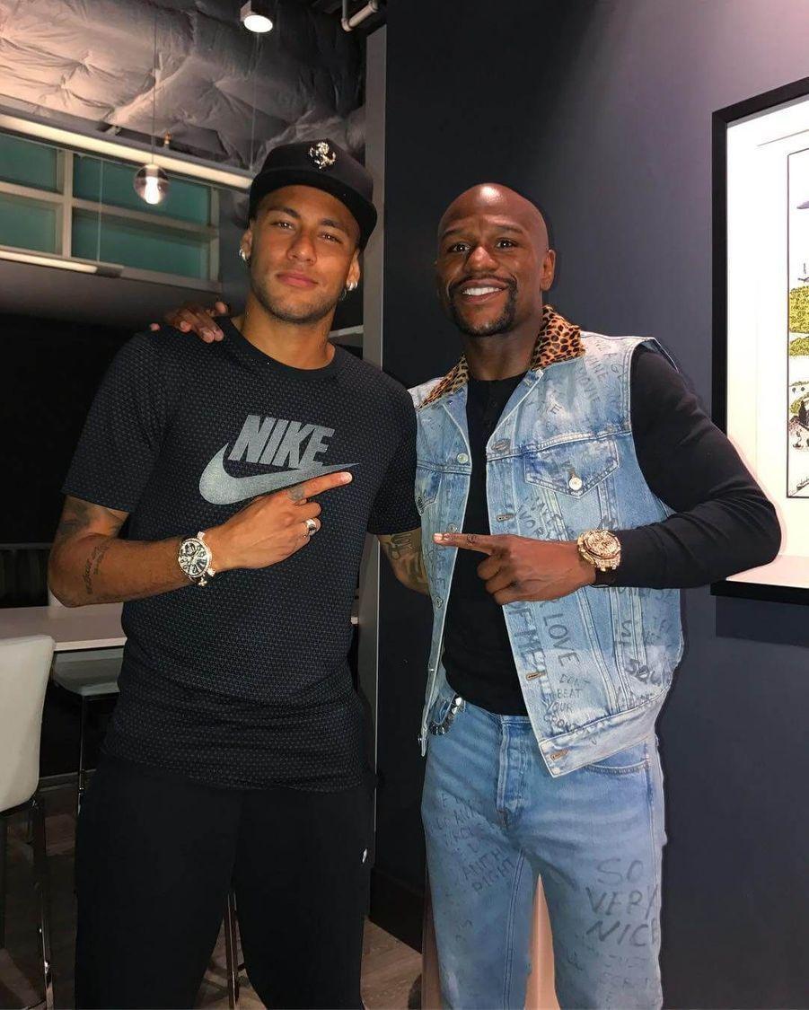 Neymar et Floyd Mayweather.