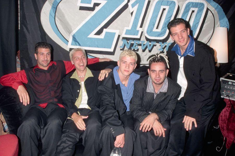Le groupe NSYNC sur scène.