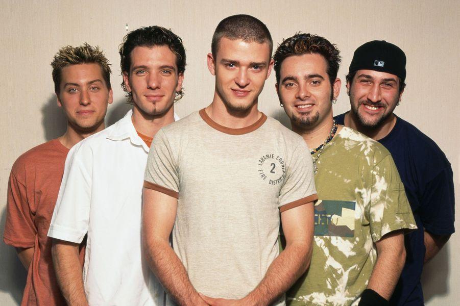 NSync en 2001.Lance Bass, JC Chasez, Justin Timberlake, Chris Kirkpatrick and Joey Fatone