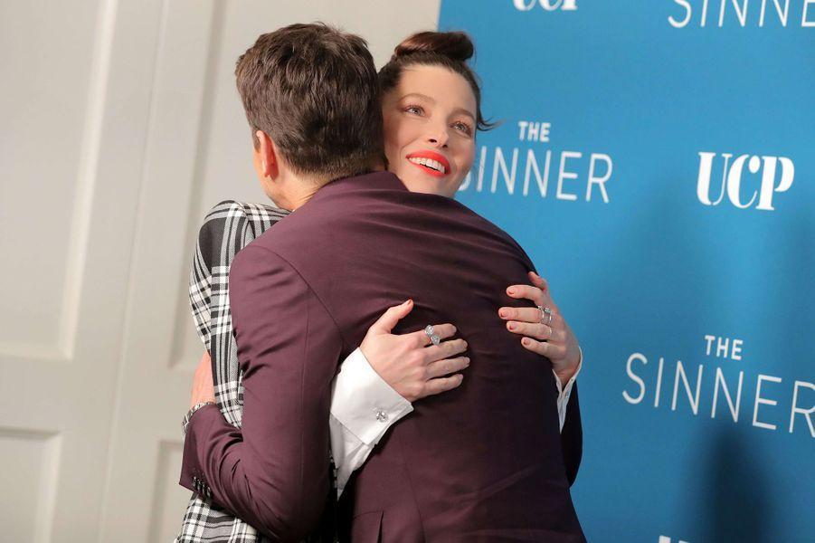 Jessica Biel et Matt Bomerà la première de la saison 3 de la série «The Sinner» à Los Angeles le 3 février 2020
