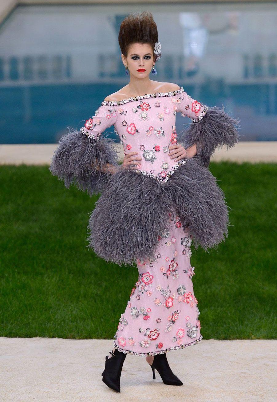Kaia Gerber au défilé Chanel mardi, à Paris