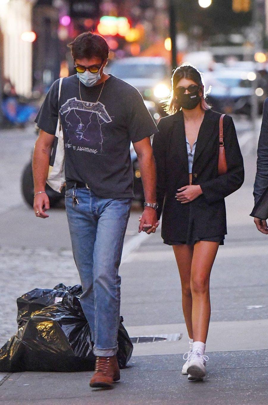 Kaia Gerber et Jacob Elordi à New York le 11 septembre 2020