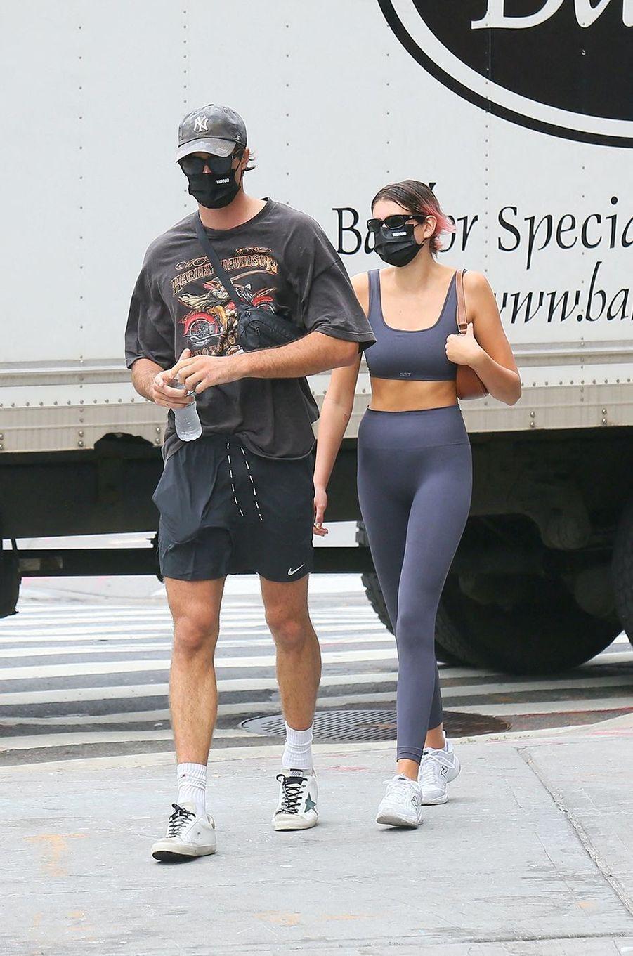 Kaia Gerber et Jacob Elordi à New York le 9 septembre 2020