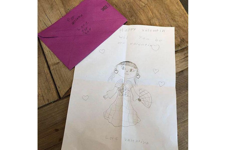 Le dessin offert à Adriana Lima pour la Saint-Valentin