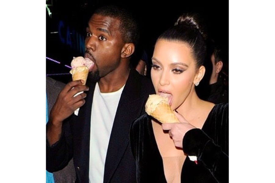Kanye West et Kim Kardashian pour la Saint-Valentin