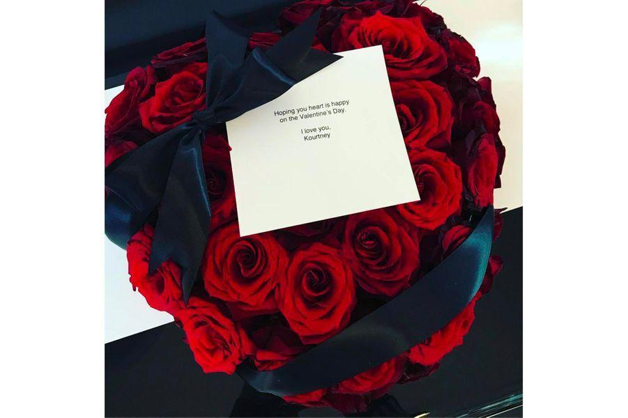 Le bouquet offert à Kris Jenner par Kourtney Kardashian pour la Saint-Valentin