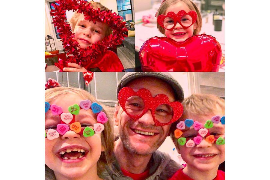 Neil Patrick Harris et ses enfants pour la Saint-Valentin