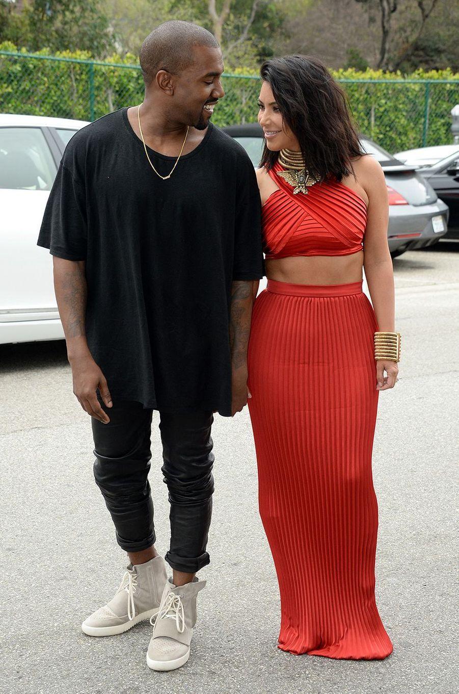 Kim Kardashian et Kanye West à Los Angeles en février 2015