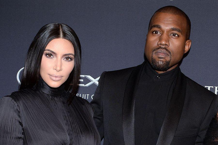 Kim Kardashian et Kanye West aux BET Honors à Washington en janvier 2015