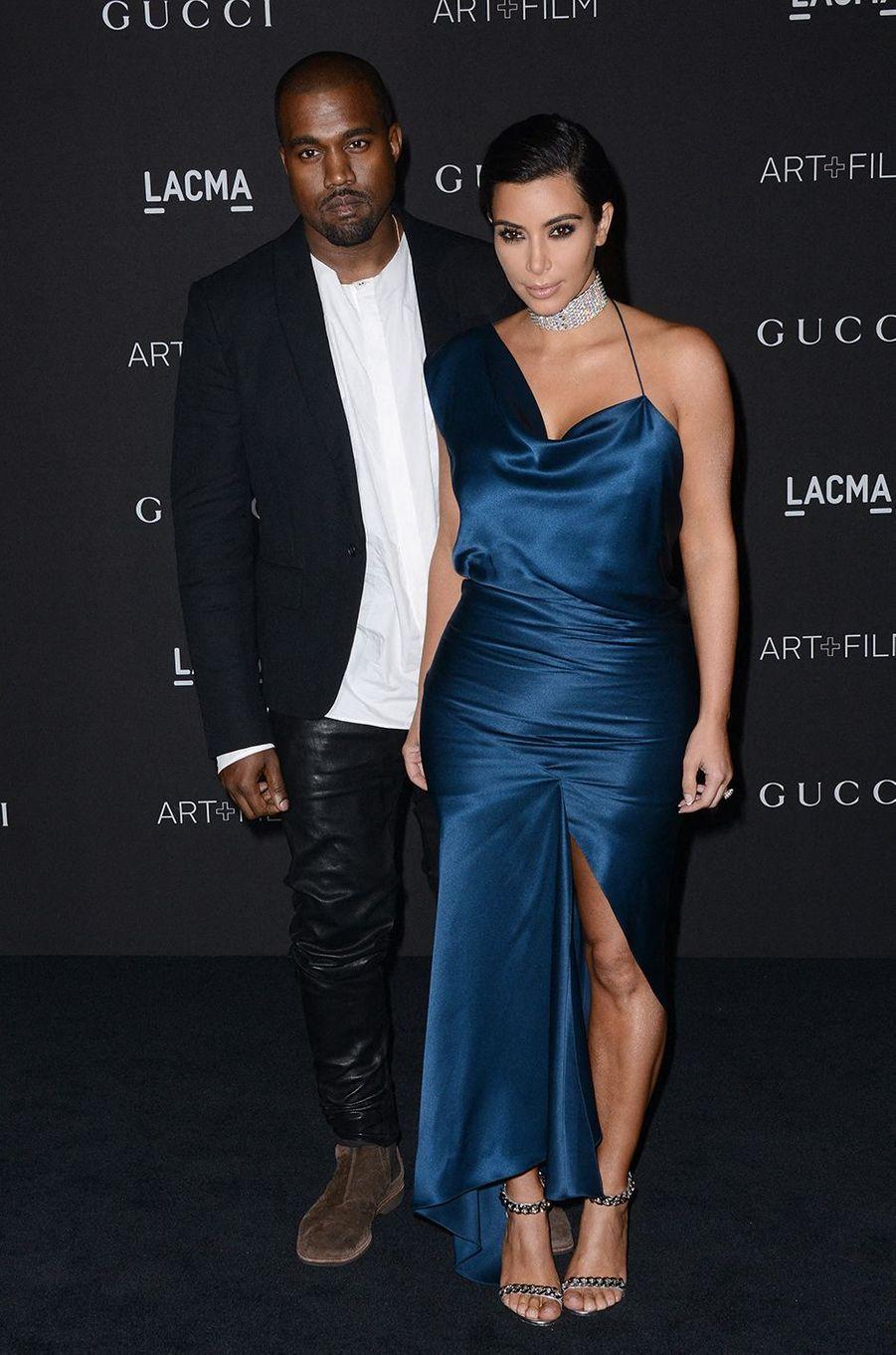 Kim Kardashian et Kanye West au gala du LACMA à Los Angeles en novembre 2014