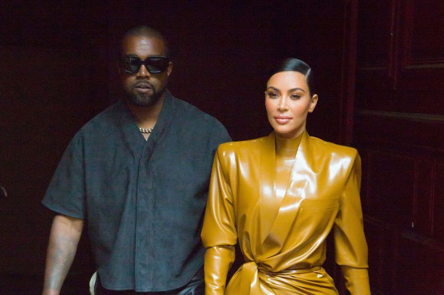 Kim Kardashian et Kanye West à Paris en mars 2020