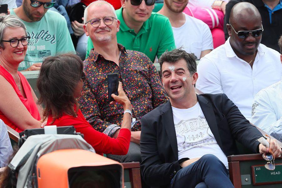 Karine Le Marchand et Stéphane Plaza à Roland-Garos le 4 juin 2018