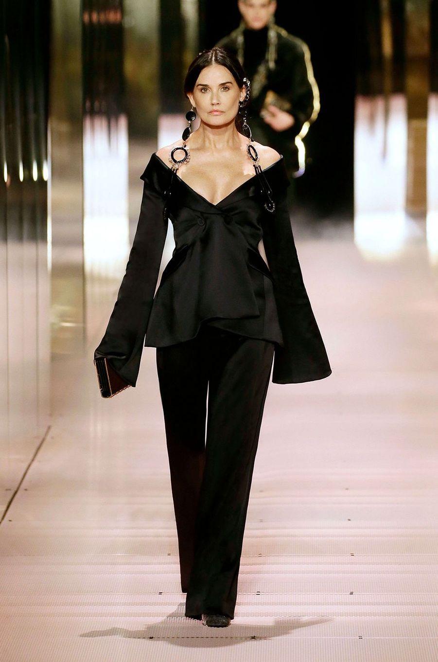 Demi Moore au défilé Fendi à Paris le 27 janvier 2021