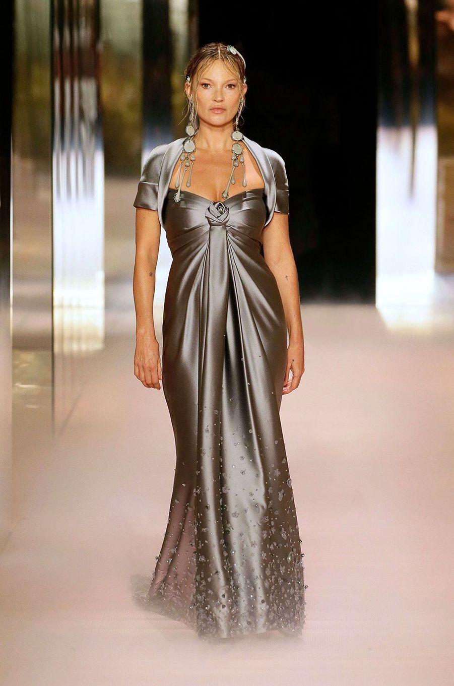 Kate Moss au défilé Fendi à Paris le 27 janvier 2021