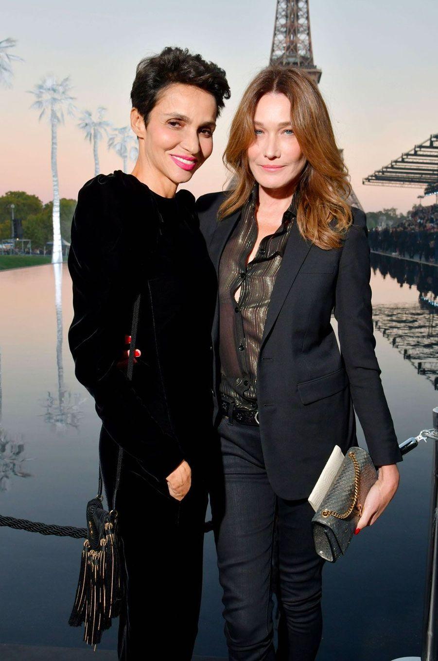 Farida Khelfa et Carla Bruni