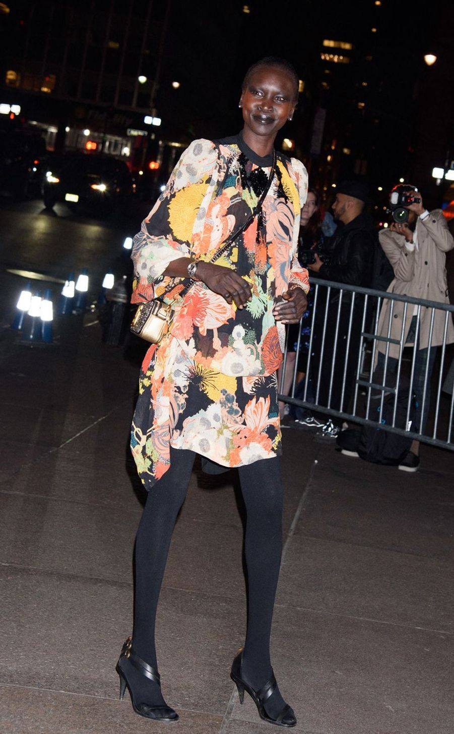 Alek Wek au mariage de Marc Jacobs et Char Defrancesco à New York le 6 avril 2019