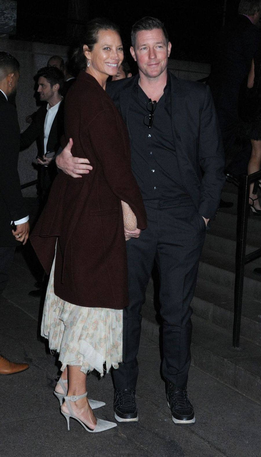 Christy Turlington et son mari Edward Burns au mariage de Marc Jacobs et Char Defrancesco à New York le 6 avril 2019