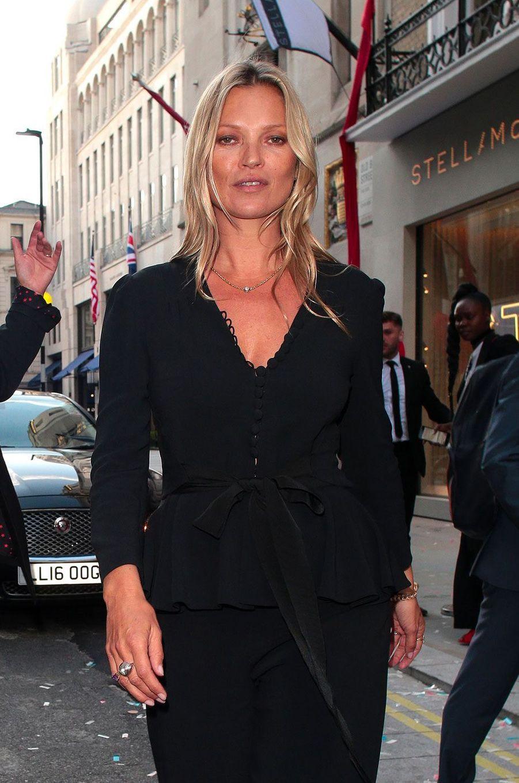 Kate Moss à Londres le 12 juin 2018
