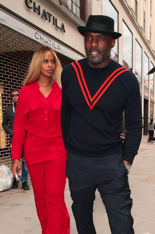 Idris Elba et Sabrina Dhowreà Londres le 12 juin 2018