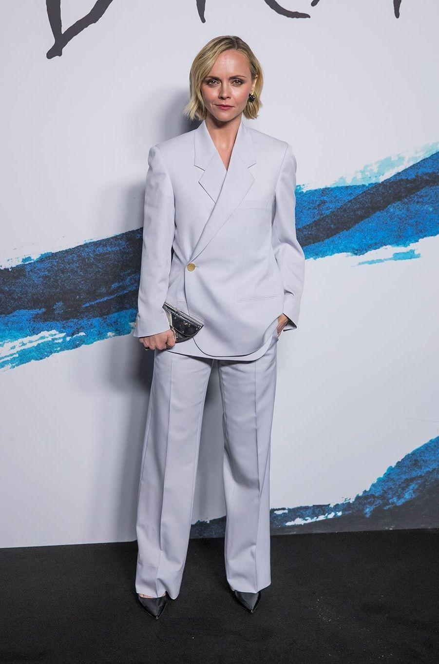 Christina Ricciau défilé Dior Homme à Paris, le 18 janvier 2019.