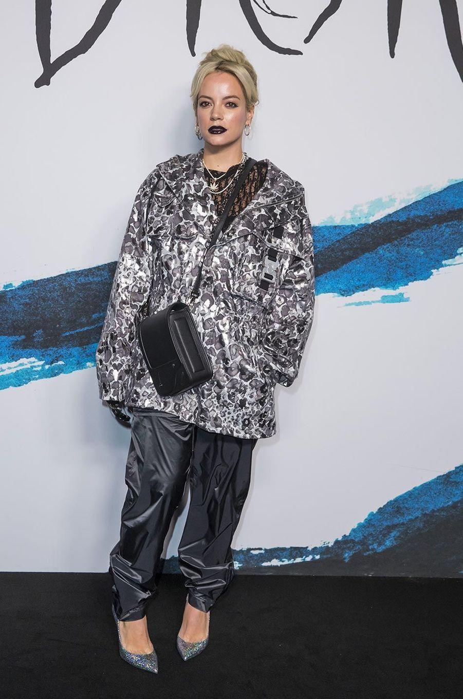 Lily Allenau défilé Dior Homme à Paris, le 18 janvier 2019.