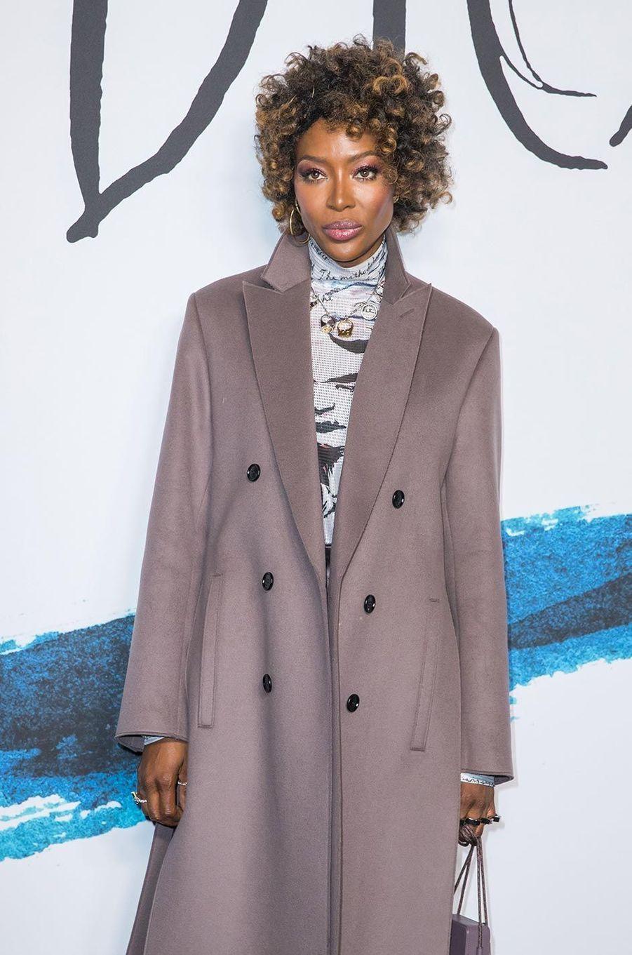 Naomi Campbellau défilé Dior Homme à Paris, le 18 janvier 2019.