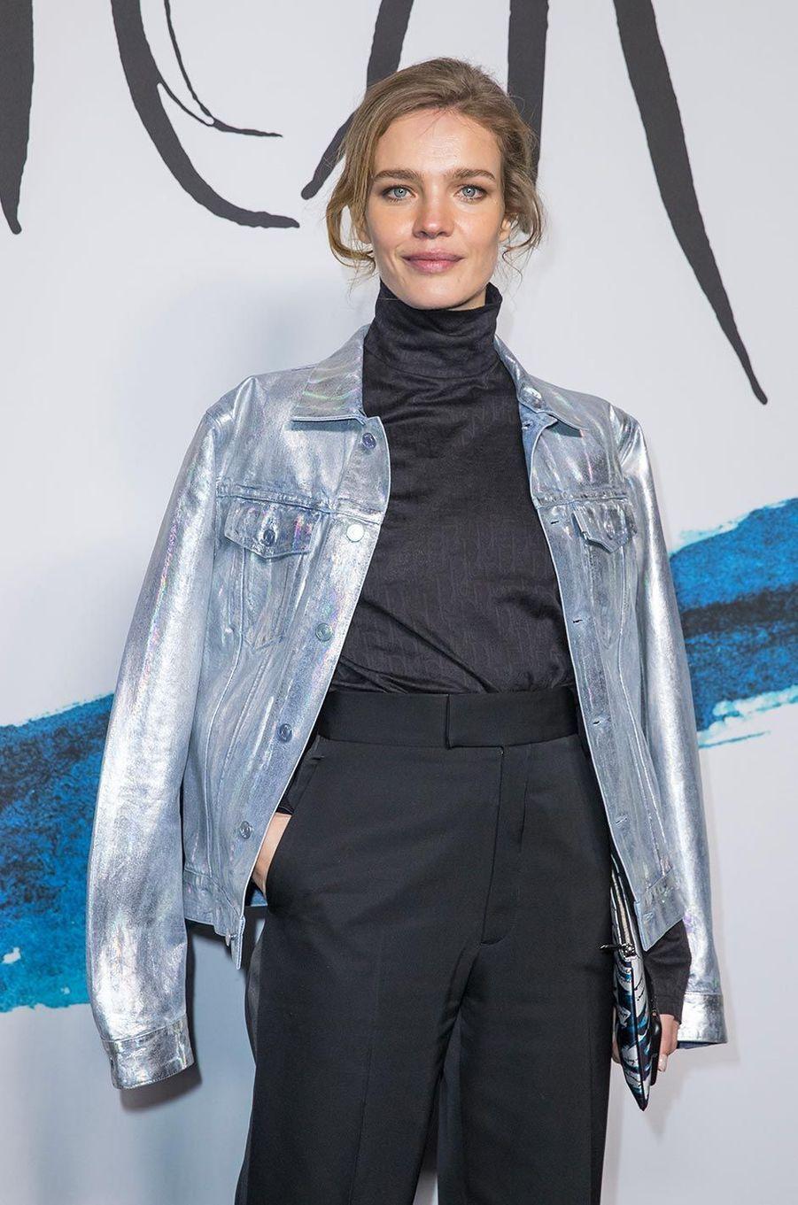 Natalia Vodianovaau défilé Dior Homme à Paris, le 18 janvier 2019.