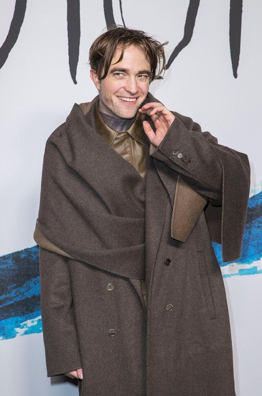 Robert Pattinsonau défilé Dior Homme à Paris, le 18 janvier 2019.