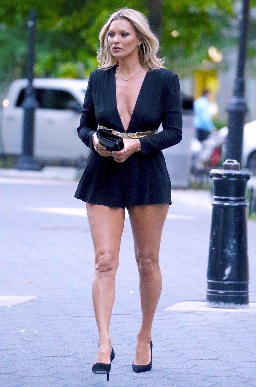 Kate Moss au défilé Saint Laurent à New York le 6 juin 2018