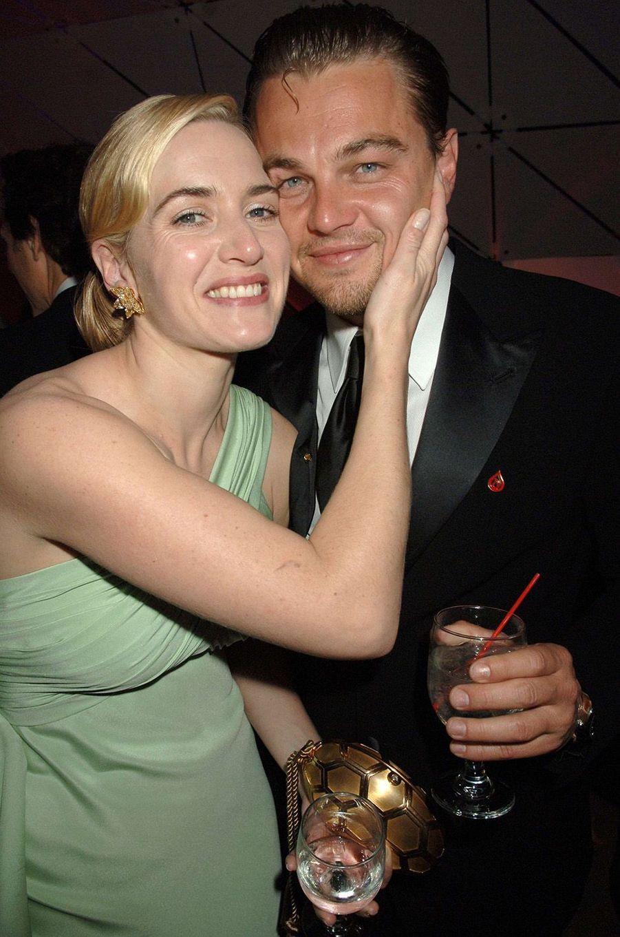 Kate Winslet et Leonardo DiCaprio en 2007.