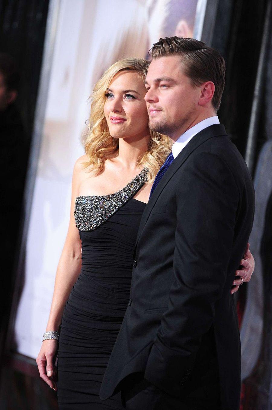 Kate Winslet et Leonardo DiCaprio en 2008.