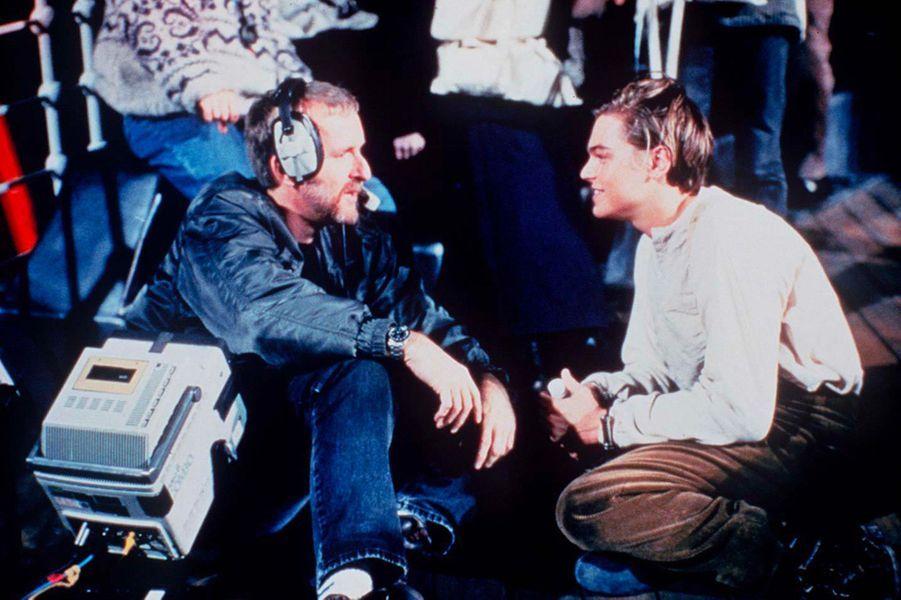 Leonardo DiCaprio et James Cameron dans les coulisses du tournage de «Titanic»