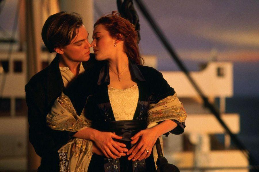 Kate Winslet et Leonardo DiCaprio sur le tournage de «Titanic»